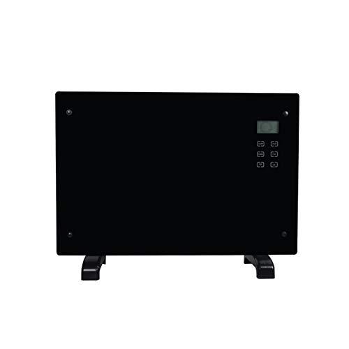 SYN-GUGAI Calentador de convección 1000/2000 W, radiador de Pared o Independiente/sin Aceite, calefacción por convección, Pantalla LCD de Temperatura, termostato Digital, Ajuste de Tiempo,A
