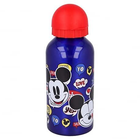 Borraccia termica Bottiglia in Alluminio per Bambini 400ml con beccuccio retraibile (Mickey Topolino)