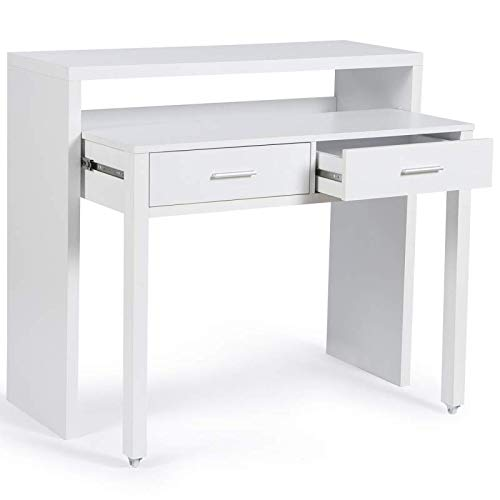 IDMarket - Bureau extensible MAX bois blanc