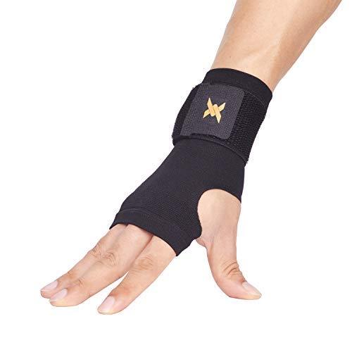 Thx4 Copper Wrist Support -Kupfer infundiert Compression Adjustable Wrist Brace Sleeve-Relief für Karpaltunnel, RSI, Sehnenentzündung, Arthritis, Verstauchungen und Müdigkeit-Ultra Thin-Single-S