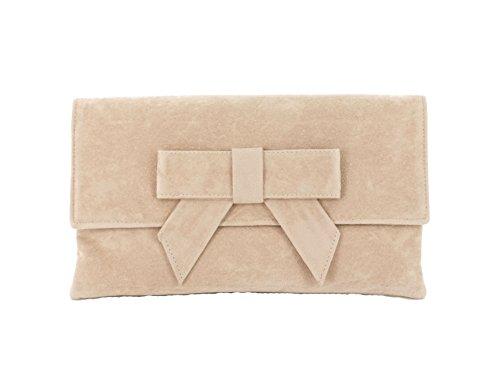 Bolso de ante sintético Loni, Nude Beige (Beige) - BAG-0654