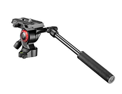 """Manfrotto MVH400AH Cabeza de tripode Negro 1/4"""" Fluido - Cabeza para trípode (97 mm, 380 g, 4,3 cm, Aluminio, Negro)"""