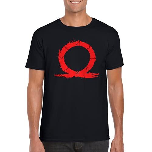 Dios de la Guerra - Camiseta Manga Corta (Negro, S)