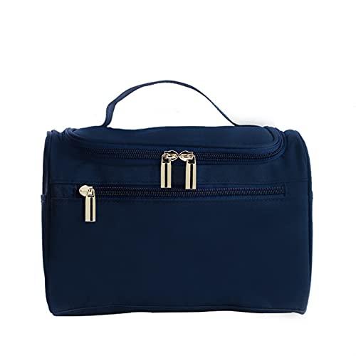 enioysun Neceser Bolsa de Almacenamiento cosmético de Gran Capacidad Engrosada Señoras para Mujer Bolsa de Aseo de Viaje Bolsa de Almacenamiento portátil Caja cosmética Colgante (Color : Deep Blue)