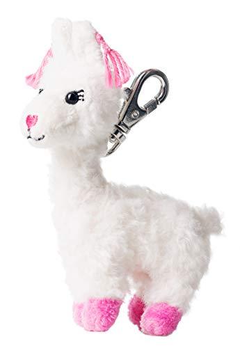 fårskinn plysch nyckelhängare Lama Loretta, krämvit, 11 cm