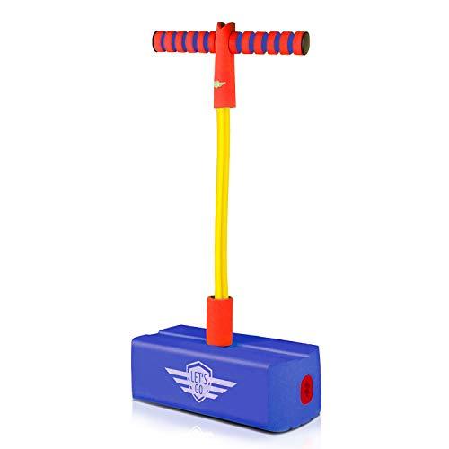 EUTOYZ Spielzeug für Jungen 4-10 Jahre, Pogo Sticks Geschenke für Mädchen 4 5 6 7 8 Jahre Geburtstagsgeschenk Fitnessspielzeug Jungen Geschenke Jungen Spielzeug ab 4-10 Jahre Blau