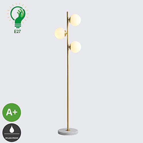 XXCC Creatieve E27 complete koperen staande lamp Nordic staande lamp study leeslamp woonkamer slaapkamer decoratieve tafellamp minimalistisch woonkamer verticaal 3 koperen verlichting