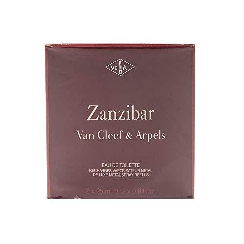 Van Cleef E Arpels Zanzibar Eau de Toilette para hombre, recarga de perfume 2 x 25 ml