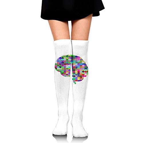 knie hoge sokken decoupeerzaag bubble vrouwen Athletic over dij lange kousen
