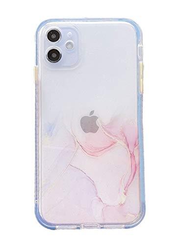 Svnaokr Funda compatible con iPhone iPhone 12Pro, color mármol degradado de silicona, protección de cuerpo entero, carcasa resistente a los golpes (rosa, para iPhone 12Pro)
