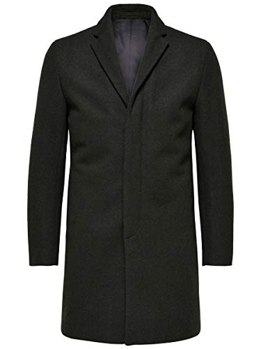 SELECTED HOMME Male Mantel Woll MDark Green