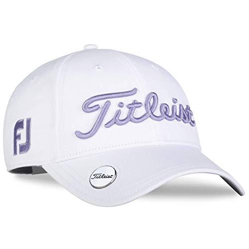 Titleist Womens Tour Performance Ball Marker Hat White/Lavender