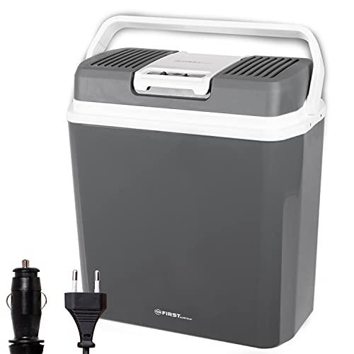 TZS First Austria - 24 Liter Kühlbox, WÄRMT und KÜHLT, thermo-Elektrische Kühlbox 12 Volt und 230 Volt, Mini-Kühlschrank | für Auto und Camping | EEK A+++