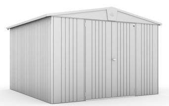Biohort Europa 7 silber-metallic, 316x300cm, Geräteschrank, Gartenhaus, Gerätehaus von Gartenwelt Riegelsberger