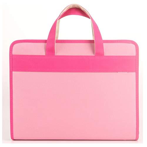 Cartelle portadocumenti Organo Bag multistrato File delle cartelle Student Zipper carta di prova portatile sacchetto di carta di immagazzinaggio del sacchetto A4 Informazioni pacchetto del sacchetto E