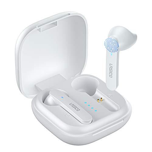 URSICO Kabellose Bluetooth Kopfhörer, In Ear Kabellose Kopfhörer Bluetooth 5.1 Wireless Kopfhörer mit HiFi Stereo Sound Integriertem Mikrofon, IPX5 Wassersdicht, 30 Std, USB-C Quick Charge