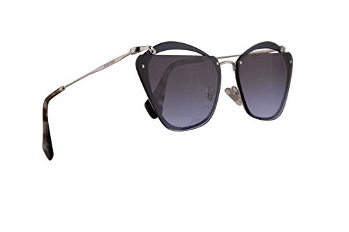 Miu Miu MU54TS Gafas de Sol Azul con Lentes de Gradientes Violetas Grises 64mm UE62F0 MU 54TS SMU 54TS SMU54T