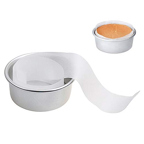 ZCONIEY 100 Counts Non-Stick Parchment Paper Liners Strip Baking Liners for 6' Cake Pans Circle