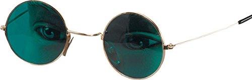 John Lennon Ozzy Osbourne Hippie Kostüm Party Grün Linse Runde Brille