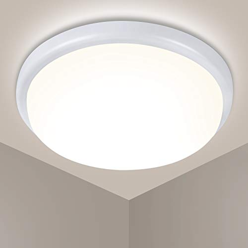 LED Deckenleuchte 18W 1440LM, OEEGOO LED Deckenlampe IP54 Wasserfest Badlampe, 4000K Feuchtraumleuchte Für Badezimmer Schlafzimmer Wohnzimmer Kinderzimmer Flur Keller Balkon φ23.7CM