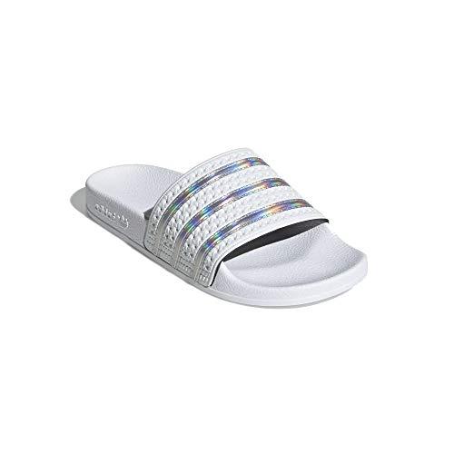 adidas Adiletten - Chanclas de baño para mujer, color Blanco, talla 43 EU