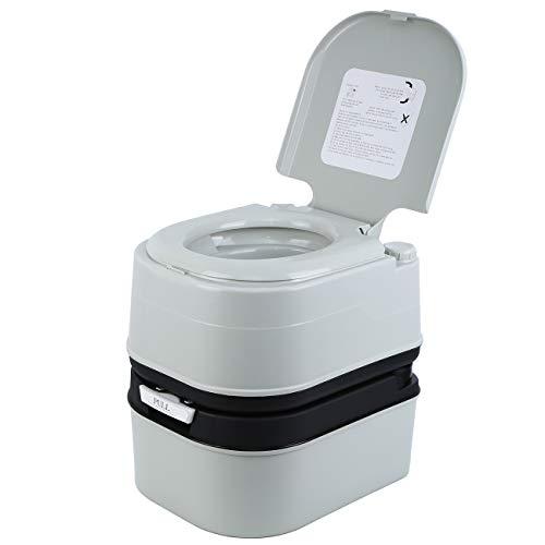MuGuang Camping Toilette Voyage Portable Toilette pour caravanes, appartements, jardins, navires, maisons de retraite, hôpitaux
