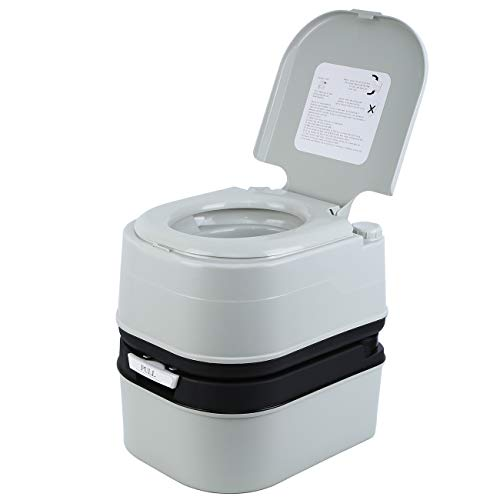 MuGuang Caravana Toilet Travel WC portátil para autocaravanas, apartamentos, jardines, barcos, residencias de ancianos, hospitales