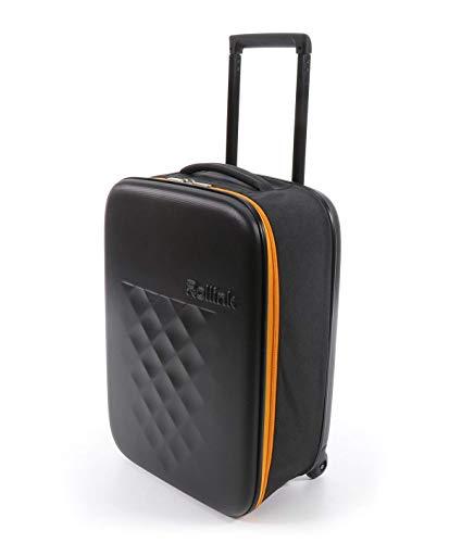 Rollink Flex21 Spring Handgepäck - Der dünnste Koffer der Welt *PATENTIERT* - Hartschalen-Koffer, Trolley, Rollkoffer, Reisekoffer, Bordgepäck für Ryanair, easyJet, Lufthansa usw. 55cm (ORANGE)