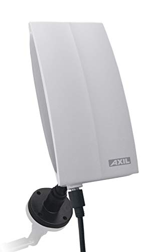 Engel Axil AN0264L Antena TDT Activa - Antena electrónica TV digital terrestre con Filtro LTE-4G Protect, hasta 46 dBi, para exterior e interior, 11.2 x 19.5 x 6.5
