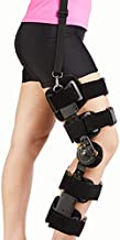 Nvorliy ROM Knee Brace with Shoulder Strap, Post Op Hinged Immobilizer Support, Recovery Stabilization for ACL, PCL, MCL, Oste Arthritis, Joint Injuries and Orthopedic Rehab - Fits Right or Left Leg