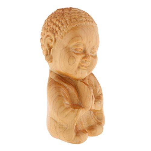 B Blesiya Holz Mönch Figuren Skulptur Statue Holzfiguren Dekofiguren Ornament Handwerk