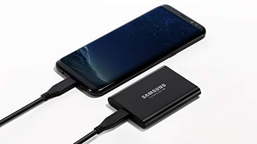 Samsung MU-PA1T0B/EU Portable SSD T5 1 TB USB 3.1 Externe SSD Schwarz