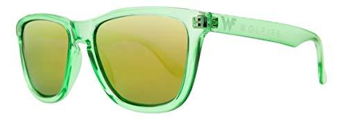 WOLFIRE SC Gafas de sol Polarizadas, Gafas Sol Hombre. Gafas de Sol Mujer. Filtros UV 400, 100% protección (Verde suave/amarillo)