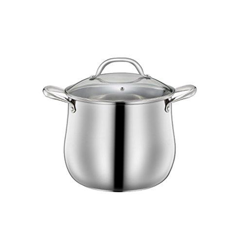 304 en Acier Inoxydable Pot Pot Pot de Cuisson au gaz Universel Pot de Cuisson Maison Grande capacité Pot épais QIQIDEDIAN (Size : 24cm)