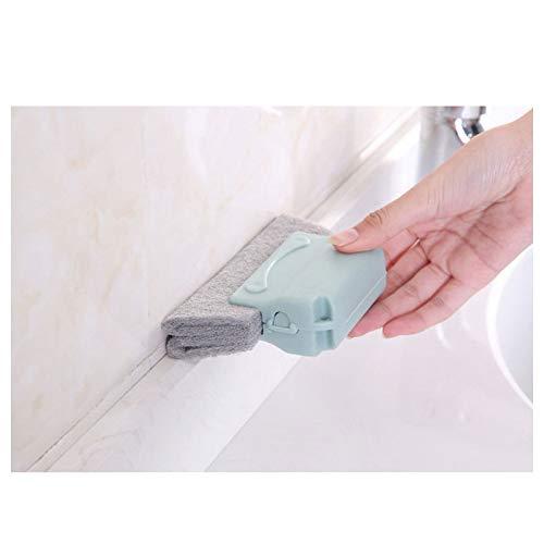 CYONGYOU 1 st raam deur spoor slot hoek hoek toetsenbord slot reinigingsborstel keuken spons handheld kloof borstel deur huishoudelijke gereedschappen