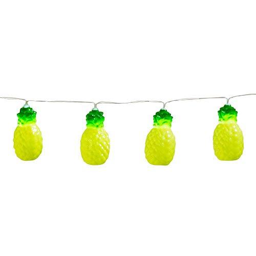 Boland 52156 - LED-Lichterkette Ananas, Länge 140 cm, Batterietyp 2xAA, Partybeleuchtung, Dekoration, Karneval, Mottoparty
