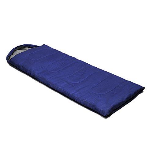 Docooler Umschlag Schlafsack(Frühling Sommer Herbst)mit Kapuze Außen Reisen Camping 1 kg(Erwachsene)