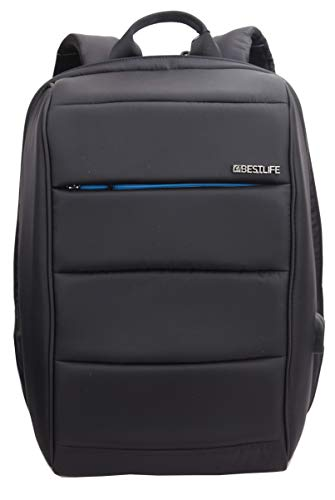 Best Life Travelsafe Rucksack, 46 cm, 23 Liter, Schwarz + Blau