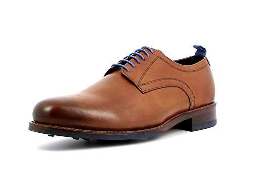 Gordon & Bros. Herren Schnürhalbschuhe Levet 6045, Männer Businessschuh, Business-Schuh anzugschuh Office maennliche Man,British TAN,46 EU / 12 UK