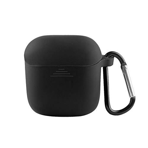 Geekria - Funda de silicona para auriculares JBL TUNE 220TWS – True Wireless In-Ear Caso de carga, funda protectora de viaje, compatible con auriculares inalámbricos TUNE 220 TWS Buds (negro)