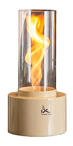 Tornado Stove HansolFX TS300, Eco Friendly Bio Ethanol Fireplace, Tornado Real Flame, Size 7.9 inches Diameter and 17.5 inches Height with 4.0 Pounds, Tempered Safety Glass