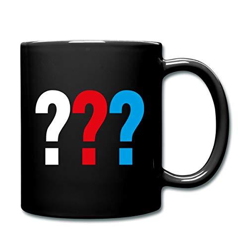 Die Drei Fragezeichen Logo Tasse einfarbig, Schwarz