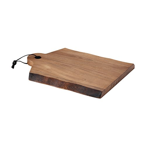 Rachael Ray 50796 Pantryware Wood Cutting Board With Handle/ Wood Serving Board With Handle - 14 Inch x 11 Inch, Brown