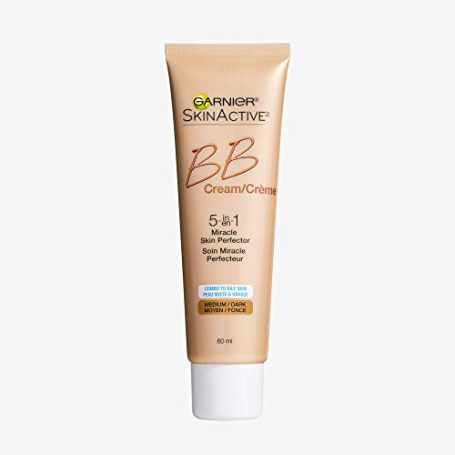 Garnier SkinActive BB Cream Face Moisturizer For Oily/Combo Skin, Medium/Deep, 2 fl. oz. (Packaging may vary)