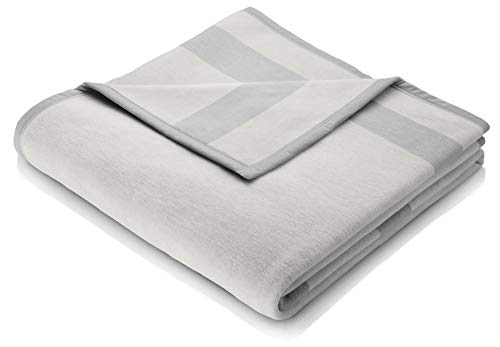 biederlack Sofa 50x200 cm I Sesselschoner Silber I Sofaschoner I 60% Baumwolle, 40% dralon I Made in Germany