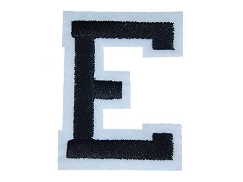 Miniblings Lettre d'alphabet initiales ABC Tansfert Tissu Patch 4.5 Lettre Nouveau E Patch I Patches correctifs à Repasser Enfants pour Un Repassage