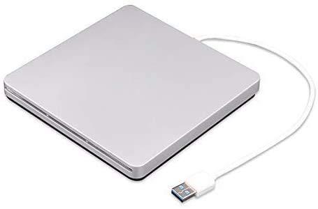 External CD DVD Drive USB 2.0 Ultra Slim Portable CD DVD RW DVD CD ROM Burner Writer Superdrive with High Speed Data Transfer Compatible with Mac MacBook Pro Air iMac Laptop Windows 10/8/7/XP MacOS