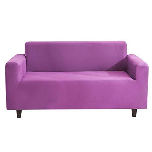 MODI Sofa Cover Stretch,Solid Color Universal Sofa Cover Net Grey Sofa Protective Wear Covers,purple,4seat235-300cm