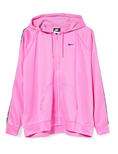 Nike Damen Logo Tape Hoodie NSW Full Zip, Blue Aqua, M