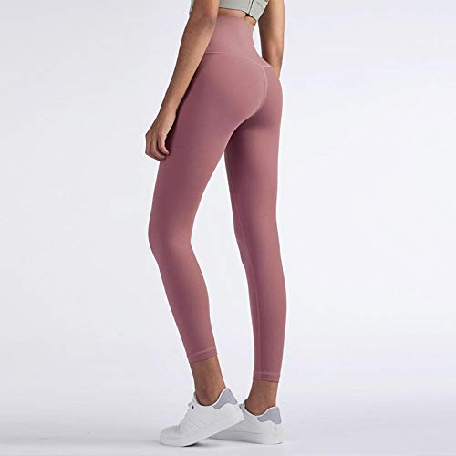Leggings Ondoorzichtig over de volledige lengte,Fitness Hoge taille Buikcontrole Naadloze legging,Energy Gymwear Workout Yoga Pant-Bean_paste_S,Yoga Fitness Yoga Jogging en golfbroek